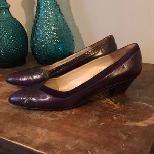 "vintage Bruno Magli purple ""Vogue"" heels 10AA"